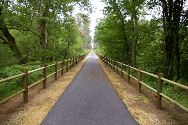 Barrière voies vertes délimitation balisage