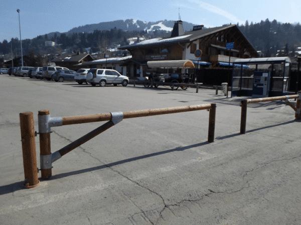 barrera pivotante