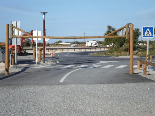 Gabarit - équipement voies et parking