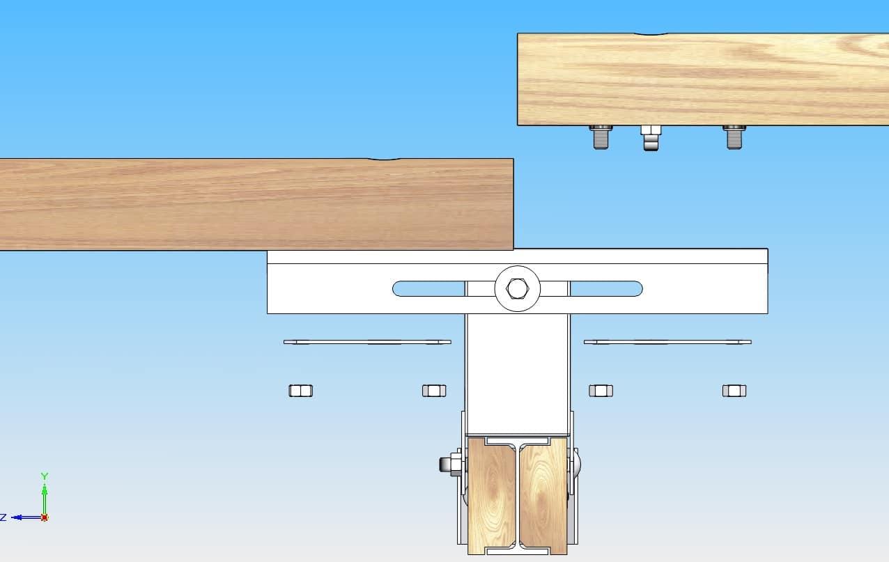 glissi re bois m tal s curit routi re dispositif de. Black Bedroom Furniture Sets. Home Design Ideas