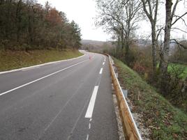 Barrière de sécurité routière bois-métal 32