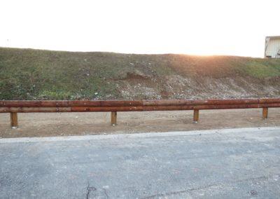 Barrière de sécurité bois-métal T32