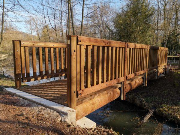 Pont bois - rondins