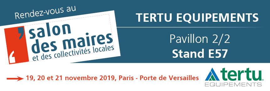 Tertu au Salon des Maires et des Collectivités Locales 2019