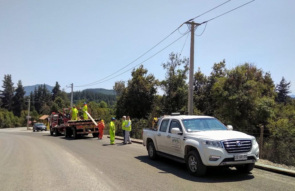 Tertu Chile participa al mejoramiento de la ruta turística de Vilches