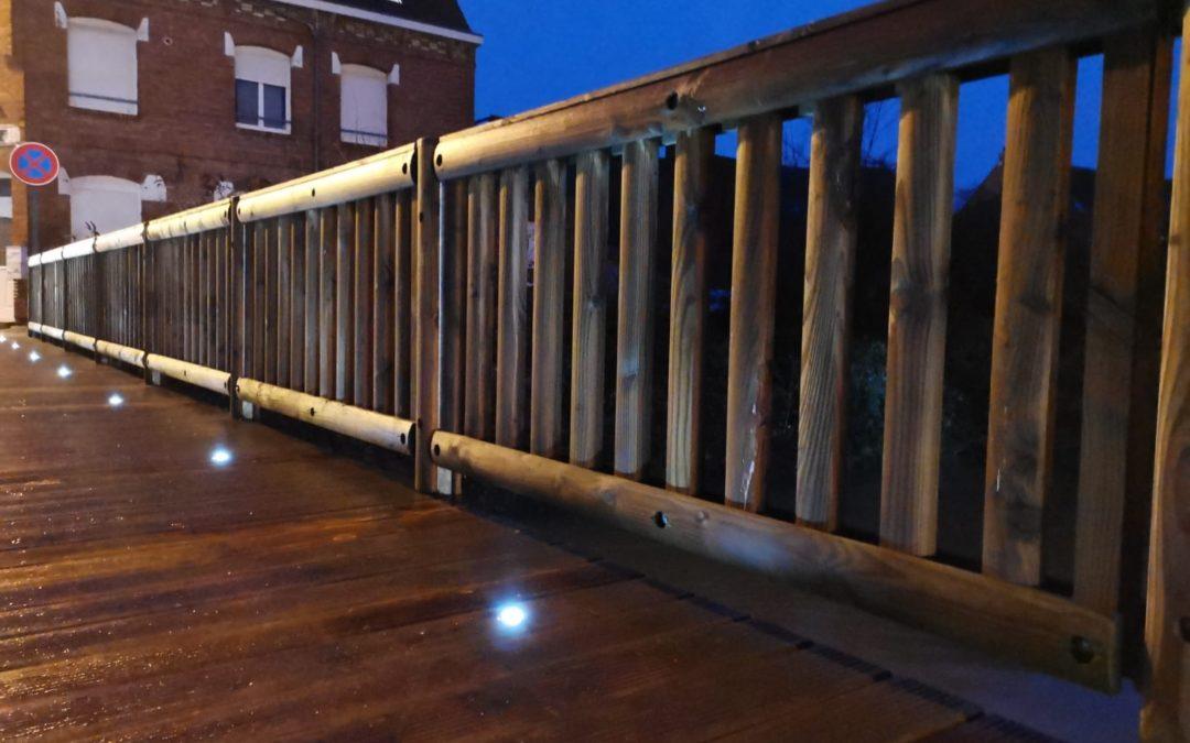 Passerelles bois-métal Tertu avec LED pour des franchissements illuminés !