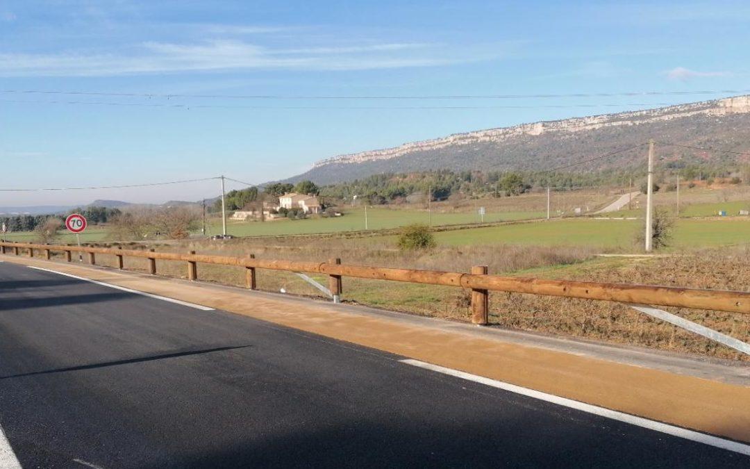 Rénovation des départementales et/ou aménagements de voies cyclables avec Tertu
